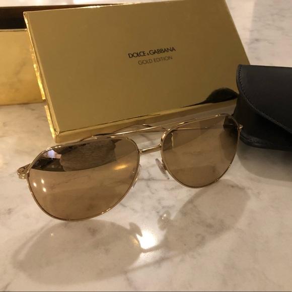 a0509d22b937 Dolce & Gabbana Accessories   Dolce Gabbana 18k Gold Sunglasses ...